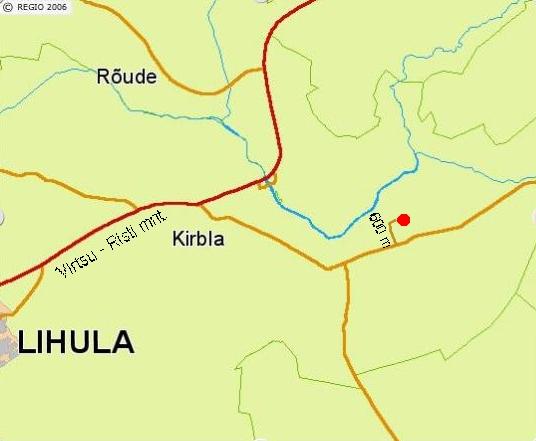 Paali-Tõnise turismitalu asukohakaart